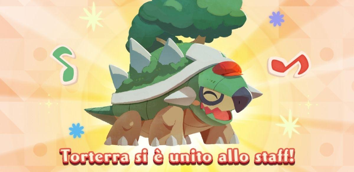 Torterra si unisce alla clientela di Pokémon Café Mix ~ Pokémon Millennium