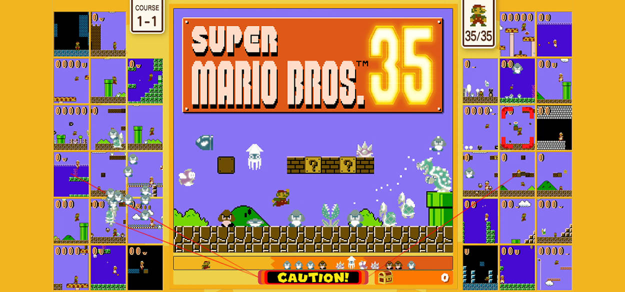 Super Mario Bros. 35 trasforma il platform in una battle royale