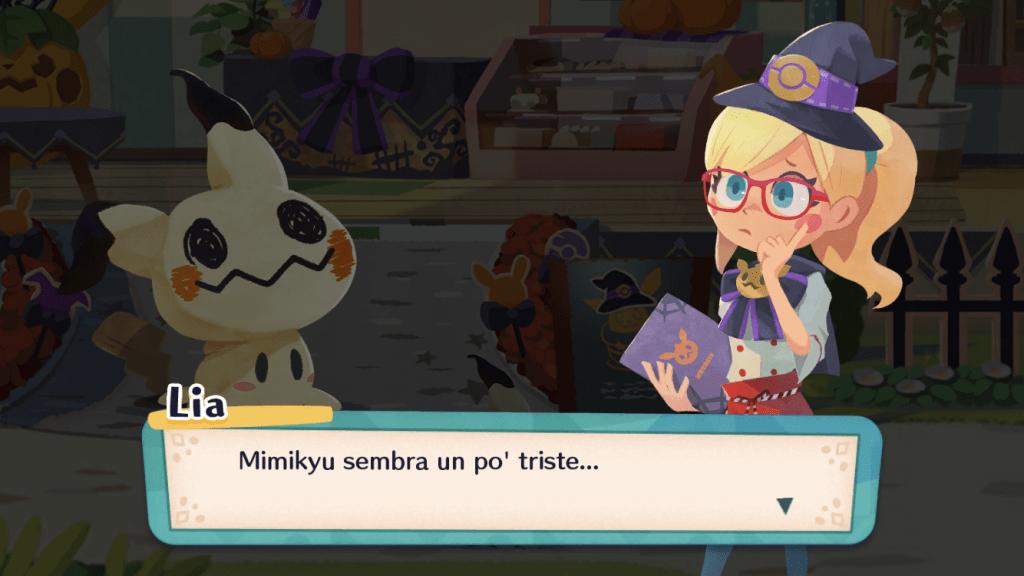 Mimikyu è un po' triste: bisognerà tirarlo su con gustose prelibatezze.