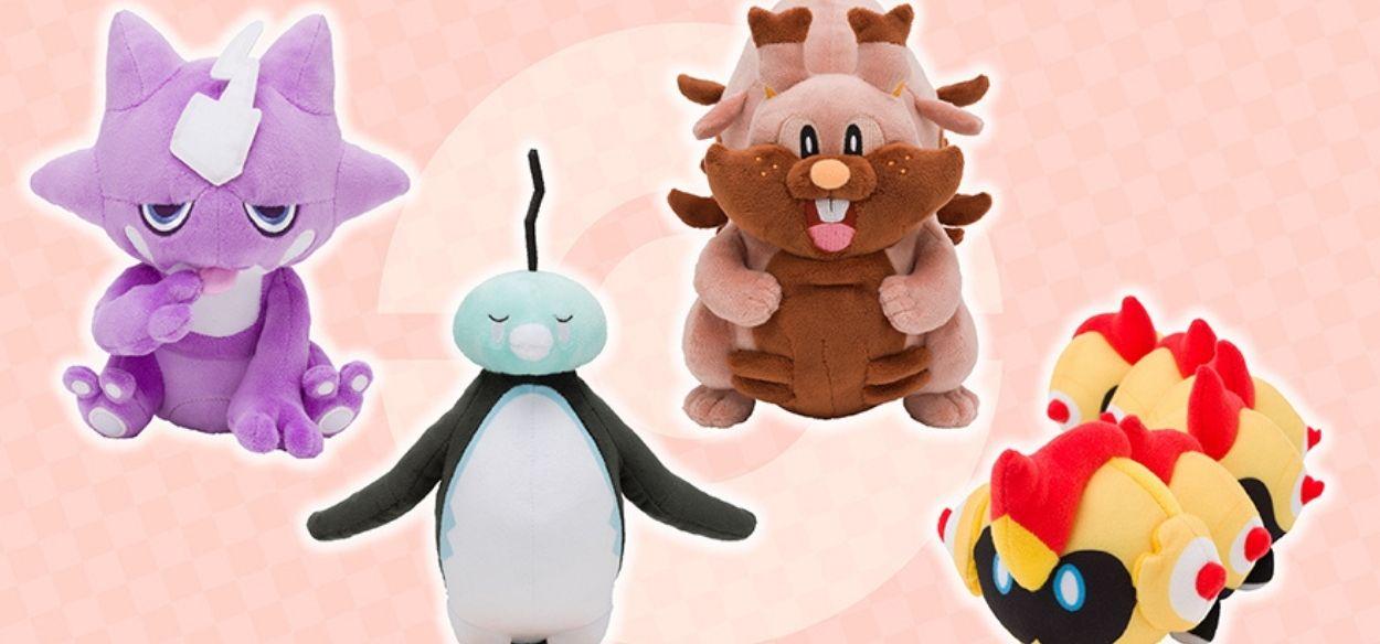 I peluche di Toxel, Eiscue, Greedent e Falinks in arrivo nei Pokémon Center