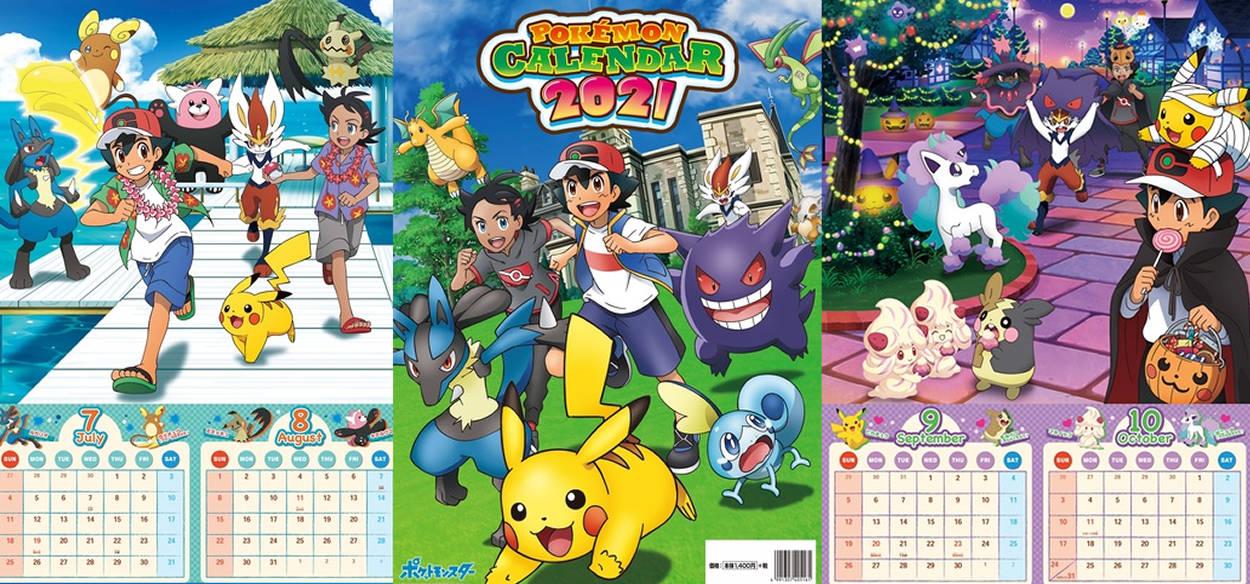 Rivelato il calendario ufficiale Pokémon 2021