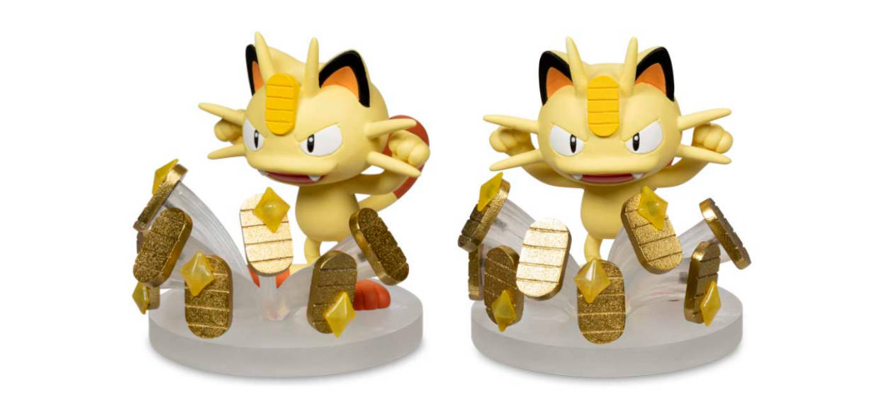 Meowth usa Giornopaga nella nuova action figure del Pokémon Center