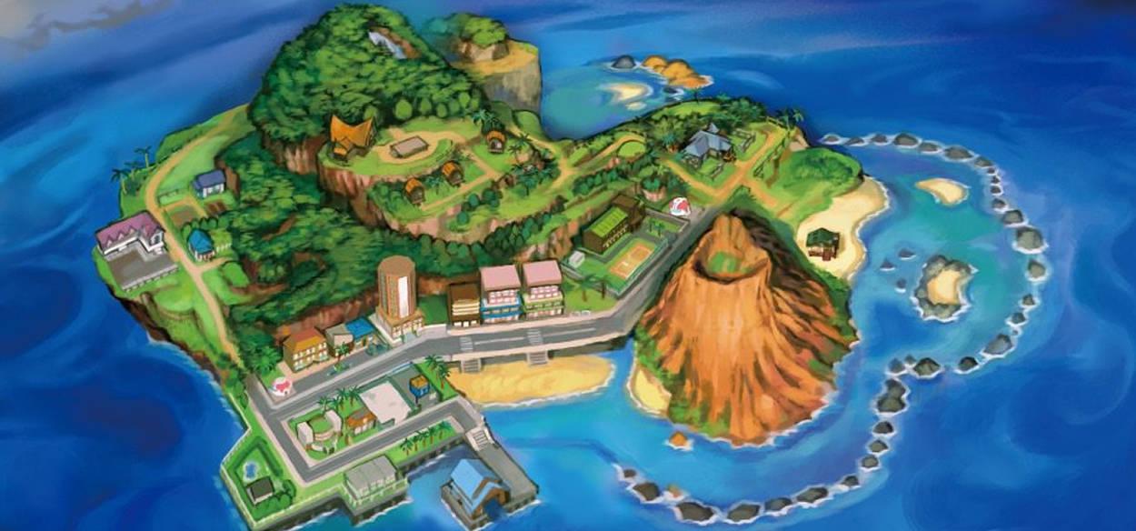 Svelata la mappa beta di Mele Mele dal codice sorgente di Pokémon Sole e Luna