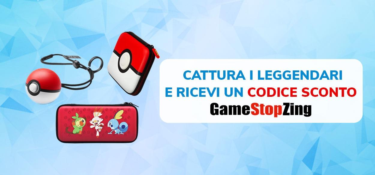 Cattura i Pokémon Leggendari di Galar e ottieni un esclusivo codice sconto di GameStopZing!