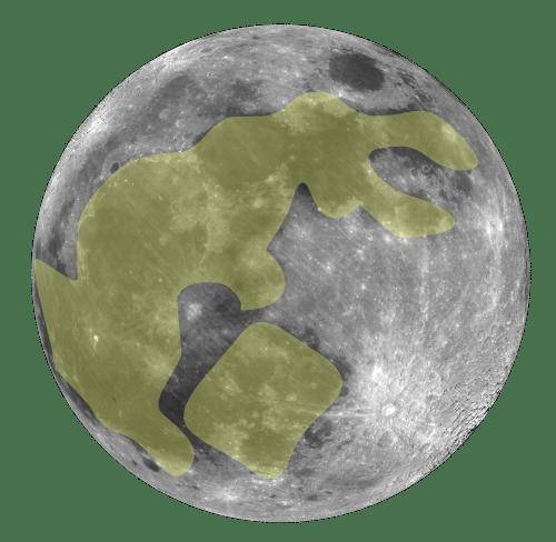 Lepre sulla Luna