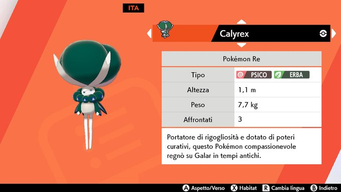 Pokédex di Calyrex