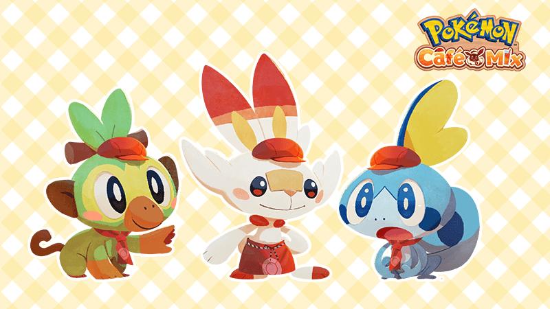 Pokémon Café Mix ospiterà nuovamente Grookey, Scorbunny e Sobble