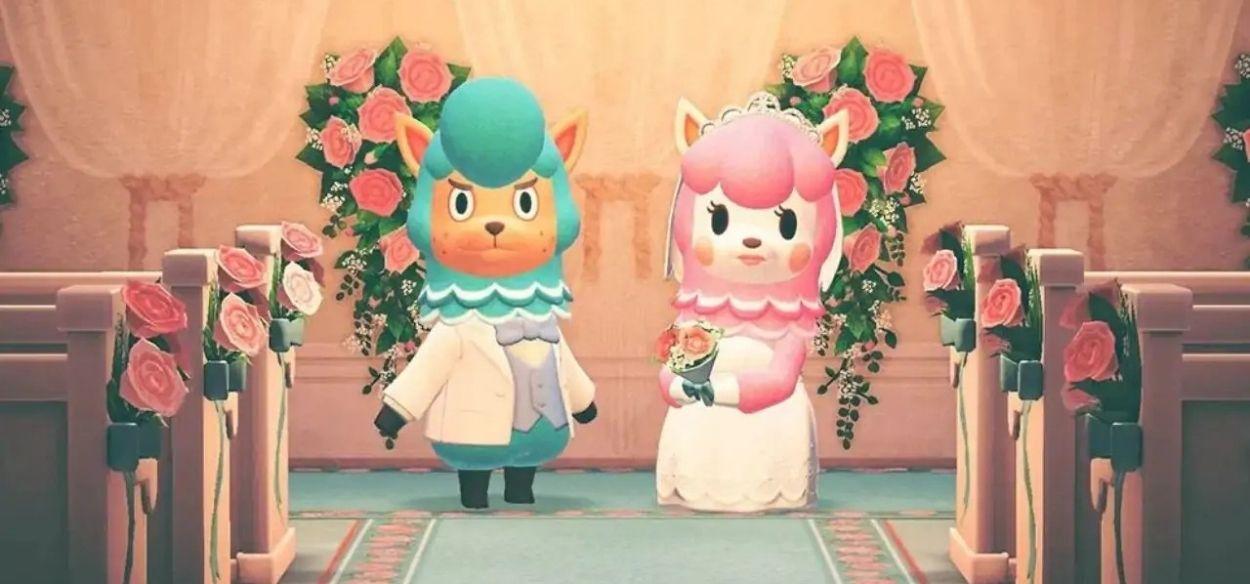 Una coppia si unisce in matrimonio dopo l'incontro su Animal Crossing: New Horizons