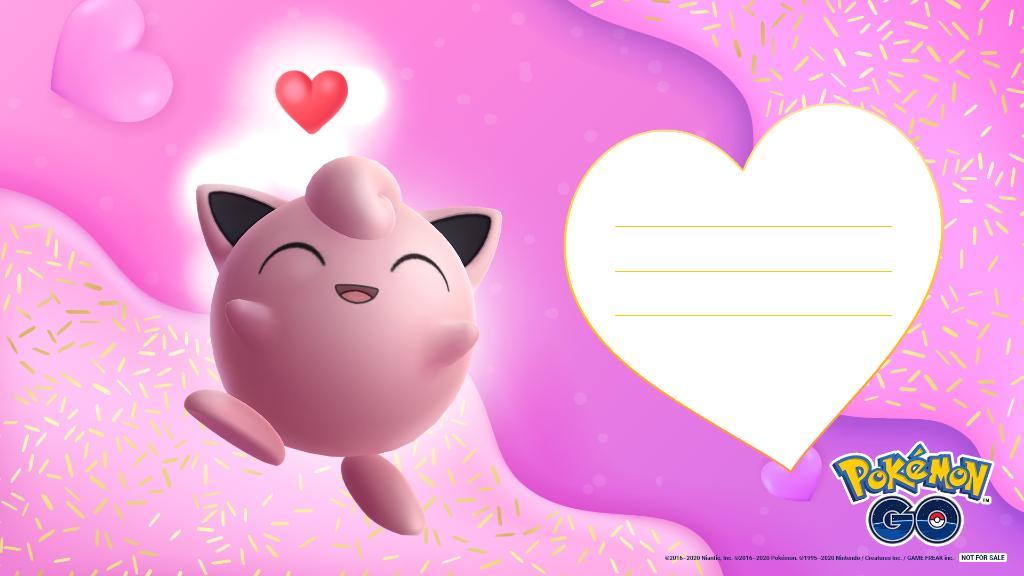 Biglietto San Valentino Pokémon GO