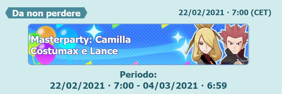Lance e Camilla Costumax Masterparty