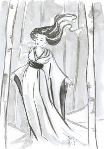 dipinto Yuki Onna