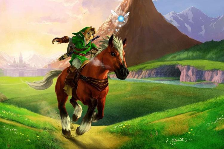 Artwork di Zelda: Ocarina of Time per Nintendo 3DS