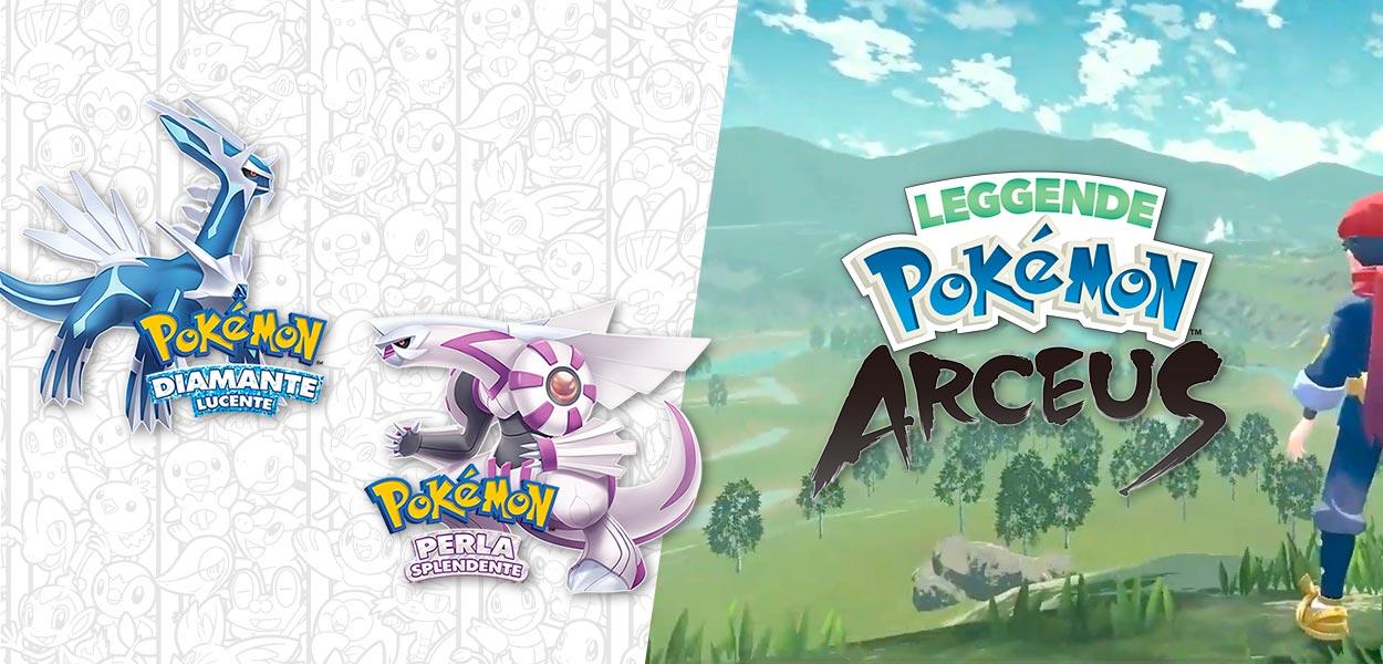 Svelate le dimensioni di Diamante, Perla e Leggende Pokémon Arceus