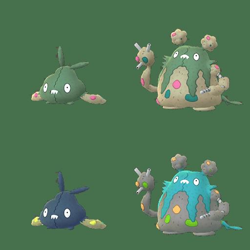 Trubbish Garbodor cromatici Pokémon GO