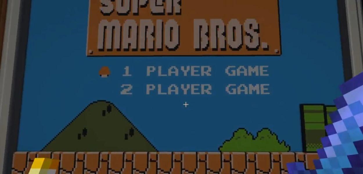 Sapevate che si può giocare Super Mario su Minecraft?