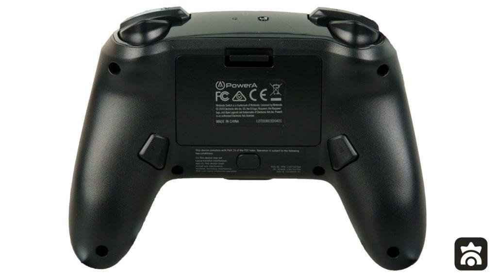 Tasti mappabili sul retro del Controller Avanzato PowerA di Apex Legends