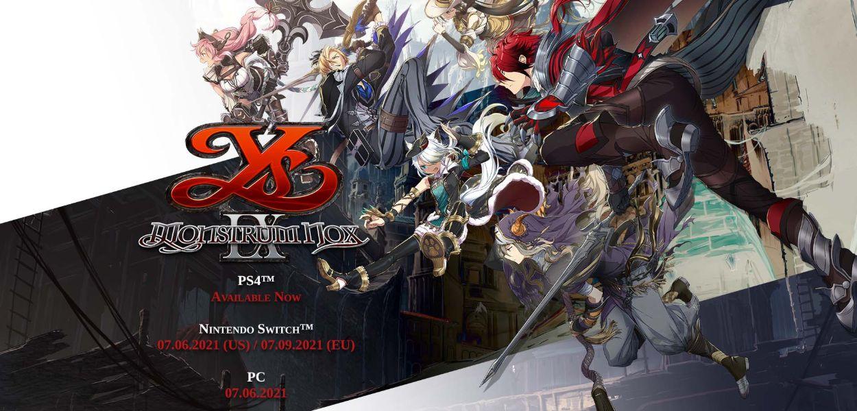 Rivelata la data di lancio di Ys IX: Monstrum Nox con un nuovo trailer