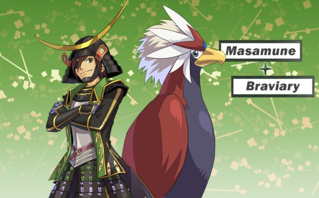 Date Masamune Braviary Pokémon Conquest