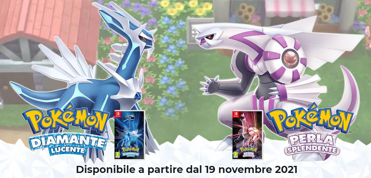 Pokémon Diamante Lucente e Perla Splendente usciranno in Italia il 19 novembre