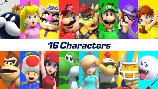 Mario Golf Super Rush personaggi