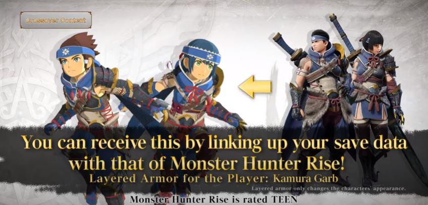 set armatura kamura Monster Hunter
