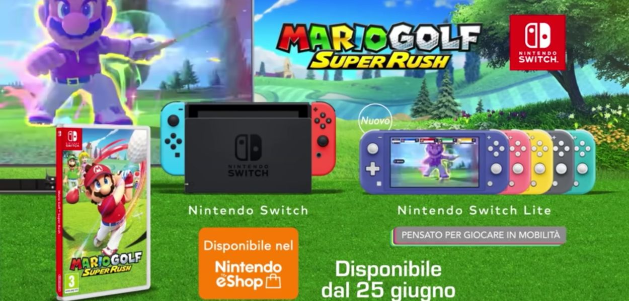 Ecco lo spot TV italiano di Mario Golf Super Rush