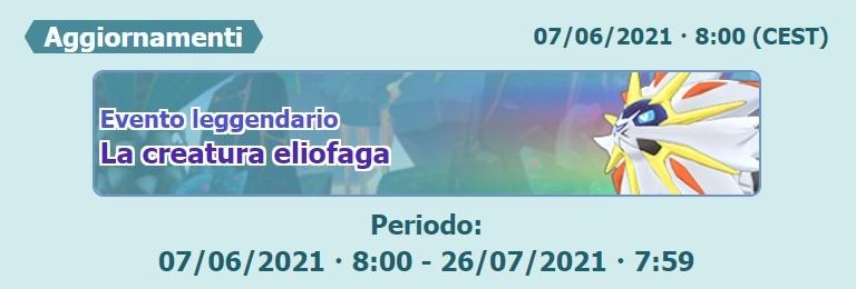 """Ritorna Solgaleo nell'Evento leggendario """"La creatura eliofaga""""."""