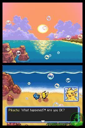 Spiaggia luogo d'incontro fra il giocatore e il compagno in Pokémon Mystery Dungeon: Esploratori del Cielo, valori dell'amicizia