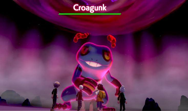 Raid Croagunk Pokémon Spada Scudo