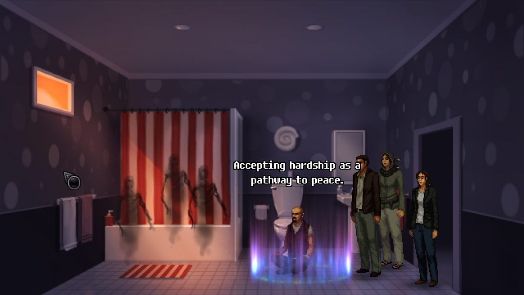 Logan, personaggio di Unavowed, che calma gli spiriti.