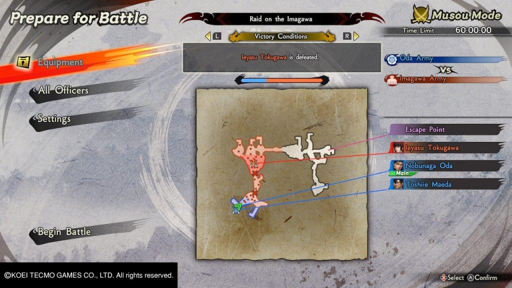 samurai warriors 5 battaglia