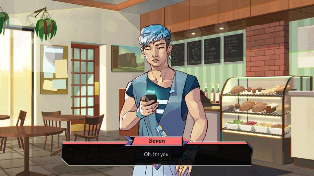 Il musicista Seven dal gioco Boyfriend Dungeon.