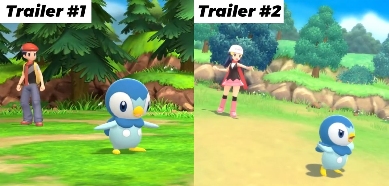 Un video mostra i progressi grafici di Pokémon Diamante e Perla rispetto al primo annuncio