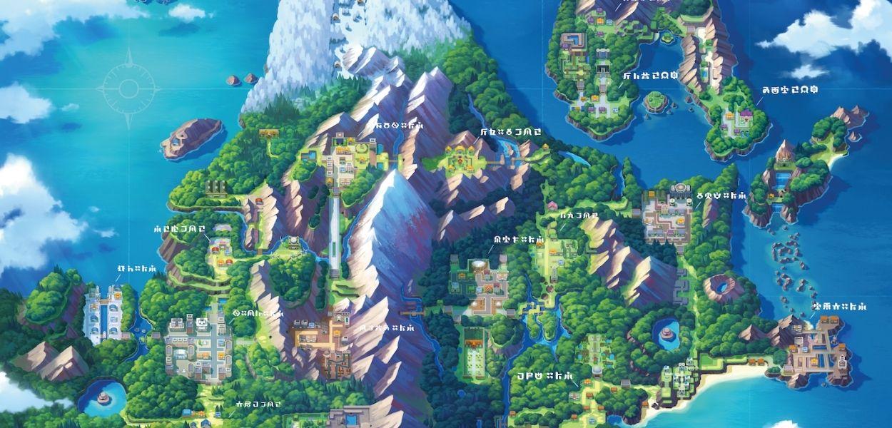 Pokémon Diamante Lucente e Perla Splendente: ecco le mappe di Sinnoh e dei sotterranei