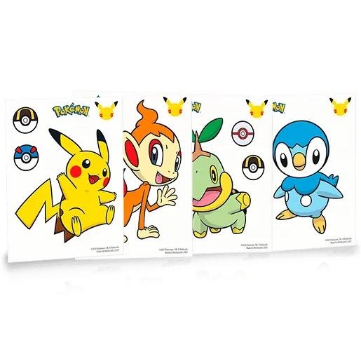 adesivi 1 happy meal Pokémon