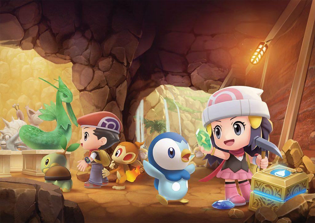 Grandi Sotterranei come novità nei remake di Pokémon Diamante e Perla.