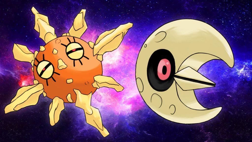 Lunatone e Solrock invadono i raid di Pokémon Spada e Scudo.