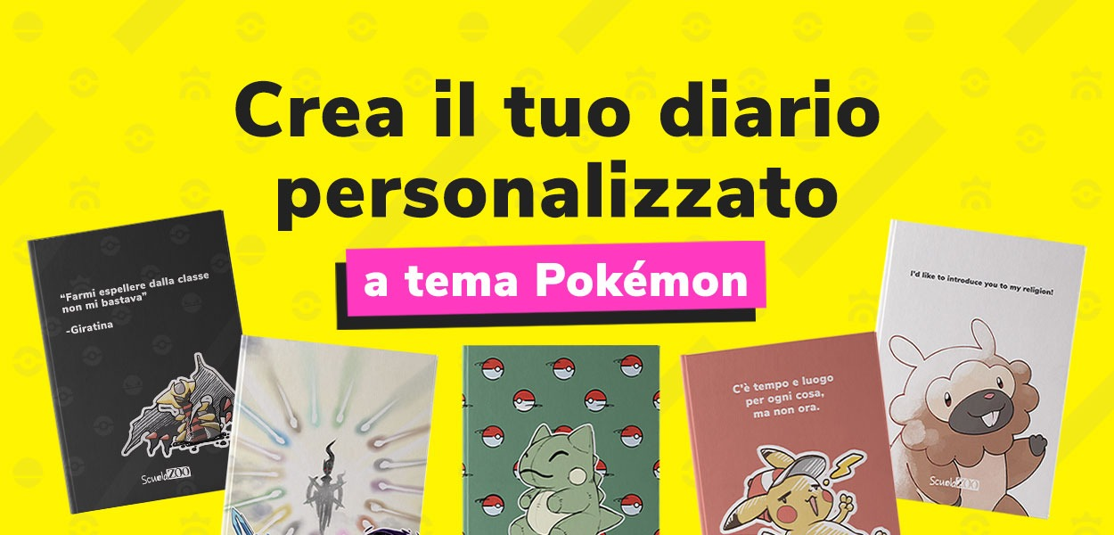 Con ScuolaZoo è possibile realizzare un diario a tema Pokémon!