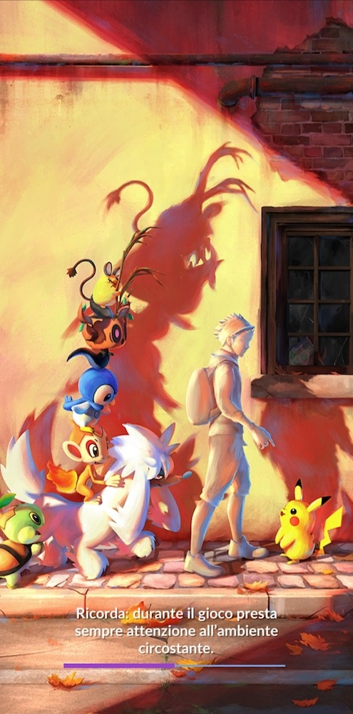schermata caricamento Pokémon GO settembre 2021