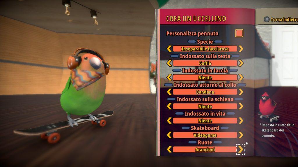 Crea un uccellino in SkateBIRD